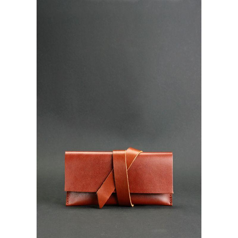 Кожаный чехол для смартфона светло-коричневый