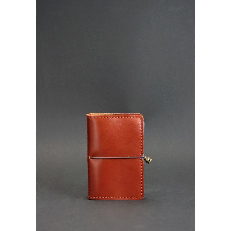 Кожаный кард-кейс 7.0 светло-коричневый