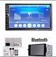 2DIN авто магнитола Bluetooth 7018B короткая база с пультом, шахтой и рамкой