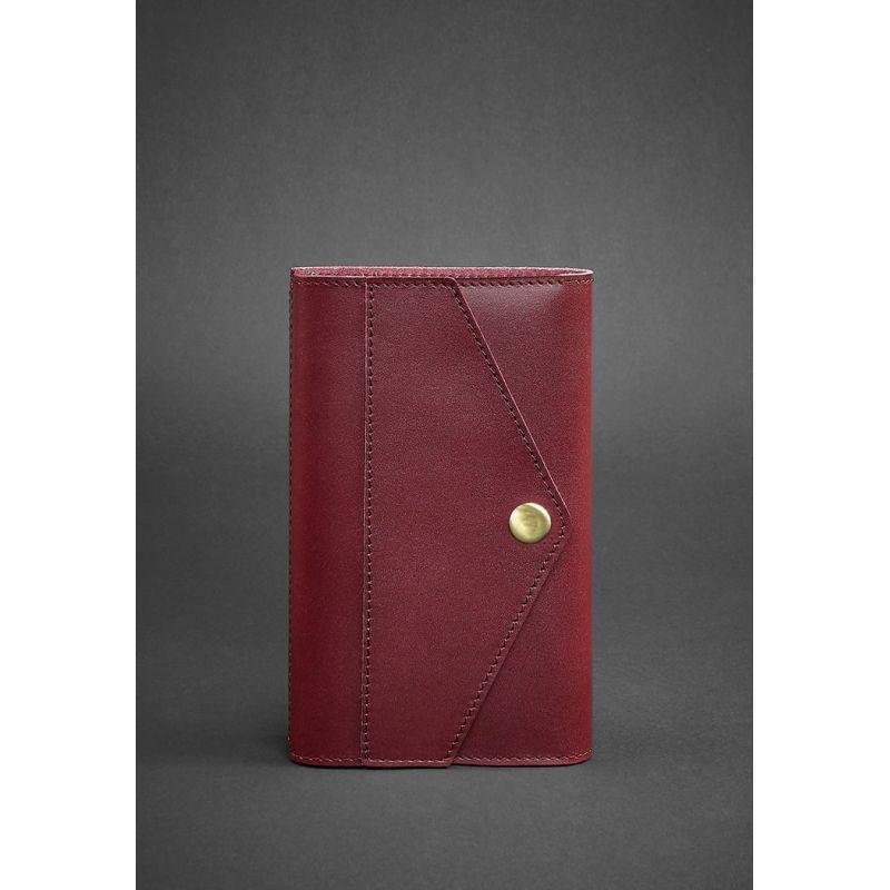 Кожаный блокнот (Софт-бук) 2.0 бордовый
