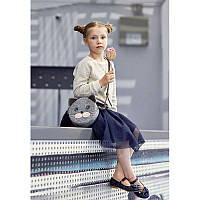 Фетровая детская сумка GS  Miss Kitty с кожаными коричневыми вставками