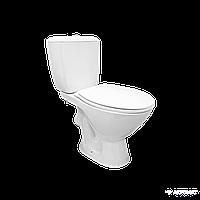 Компакт Cersanit KORAL K011 3/6 с сиденьем с крышкой полипропилен, нижний подвод, горизонтальный вы