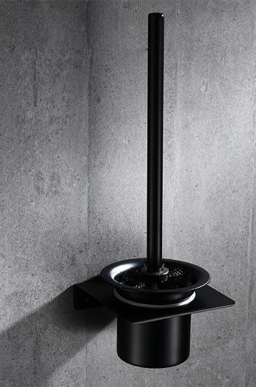 Ёршик для унитаза настенный Art-Design RONDO черный