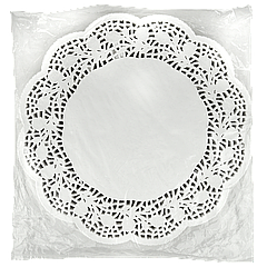 Салфетки ажурные Ø=34,5 250шт Белые