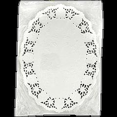 Салфетки ажурные овал 19*26 250шт Белые