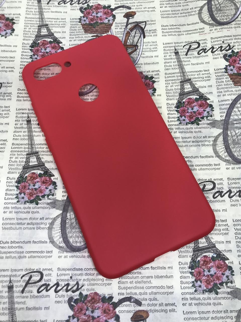 Чехол / бампер / накладка для Xiaomi Mi 8 Lite цветной силиконовый матовый красный