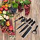 Набор кухонных ножей Top Kitchen 6 предметов / ножницы кухонные / овощечистка керамическая, фото 2