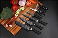 Набор кухонных ножей Top Kitchen 6 предметов / ножницы кухонные / овощечистка керамическая