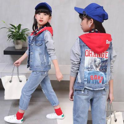 Костюм джинсовый на девочку, фото 2