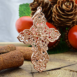 Серебряный крестик Православный Спаси и сохрани размер 45х29 мм вес 2.9 г