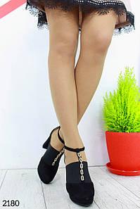 """Туфли """" Phoenix_Gold """" Черный туфли. ЭкоЗамш."""