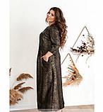 Повседневное женское платье цвет-бронза, фото 3