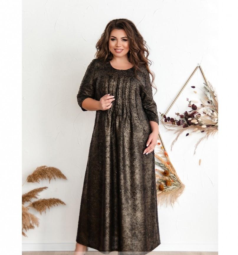 Повседневное женское платье цвет-бронза