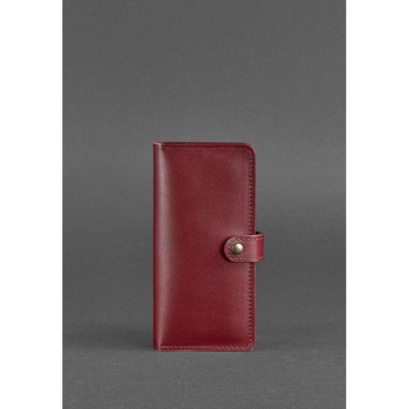 Кожаное женское портмоне 7.0 бордовое
