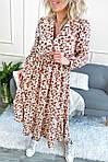 Роскошное платье миди в цветочный принт (0952), фото 8