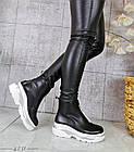 Демисезонные женские ботинки черного цвета, эко кожа 40 ПОСЛЕДНИЙ РАЗМЕР, фото 3