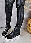 Демисезонные женские ботинки черного цвета, эко кожа 40 ПОСЛЕДНИЙ РАЗМЕР, фото 4