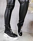 Демисезонные женские ботинки черного цвета, эко кожа 40 ПОСЛЕДНИЙ РАЗМЕР, фото 6