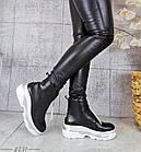 Демисезонные женские ботинки черного цвета, эко кожа 40 ПОСЛЕДНИЙ РАЗМЕР, фото 7