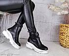 Демисезонные женские ботинки черного цвета, эко кожа 40 ПОСЛЕДНИЙ РАЗМЕР, фото 8