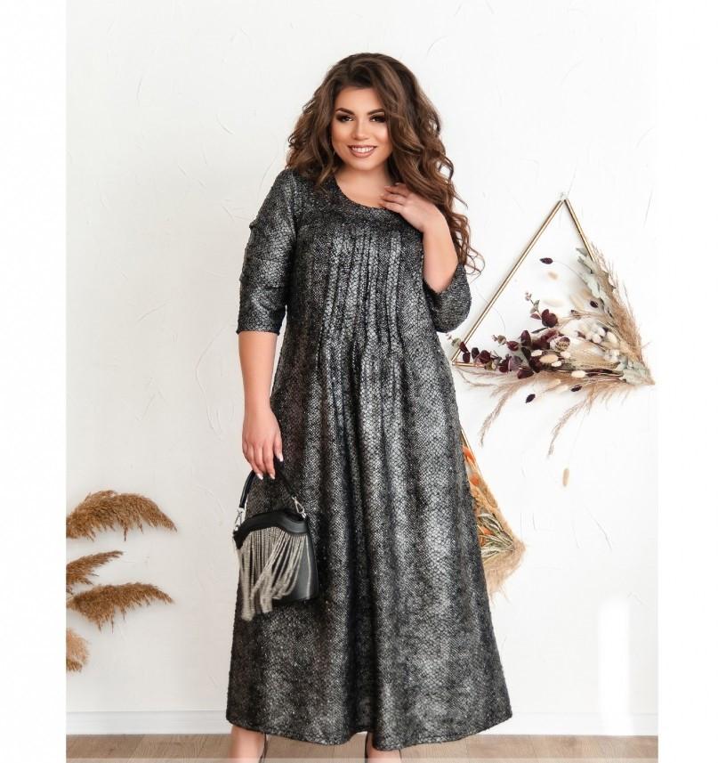 Повседневное женское платье серое