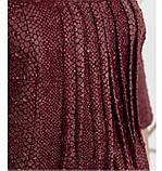 Повседневное женское платье цвет-бордо, фото 4