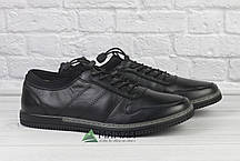 Шкіряні чоловічі кросівки на резинці, фото 3