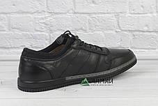 Шкіряні чоловічі кросівки на резинці, фото 2