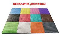 Коврик - пазл EVA для детей, покрытие для игровых центров, 50*50 см толщина 10 мм (Пересорт)