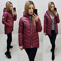 Куртка-парка зима (арт. 300) бордо