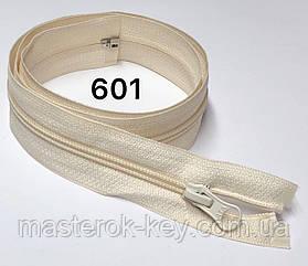 Молния спиральная разъемная №5 длина 60см цвет кремовый #601