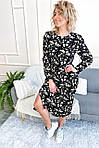Нарядное платье с цветочным принтом длины миди (8266), фото 4