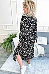 Нарядное платье с цветочным принтом длины миди (8266), фото 5