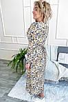 Нарядное платье с цветочным принтом длины миди (8266), фото 3