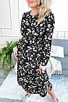Нарядное платье с цветочным принтом длины миди (8266), фото 6