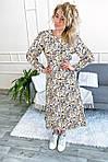 Нарядное платье с цветочным принтом длины миди (8266), фото 2