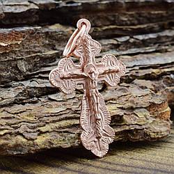 Серебряный крестик Православный размер 29х15 мм вес 1.3 г