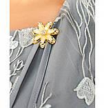 Платье женское прямого кроя серое, фото 3