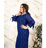 Платье женское прямого кроя цвет-электрик, фото 3