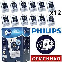 Мешки 12 штук Electrolux (Philips) E201SM оригинал s-bag mega pack classic long performance для пылесосов