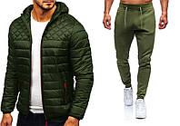Комплект мужской HOT X khaki | Куртка демисезонная + Штаны + СКИДКА