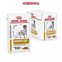 Royal Canin Urinary S/O Moderate Calorie ( кусочки в соусе) 100г*12 шт для собак