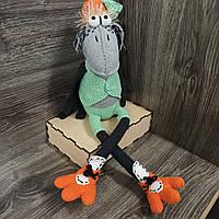 Интерьерная мягкая  вязаная игрушка  Воронсм 50*17 ручная работа, фото 1
