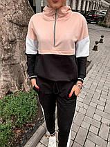 """Комбинированный женский спортивный костюм """"Vira"""" с капюшоном (2 цвета), фото 2"""