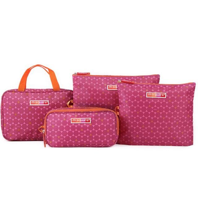 Набір мандрівника середній рожевий в ромбики