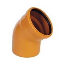 Колено, фитинг к пластиковым канализационным трубам