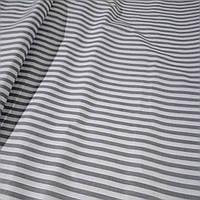 Ткань Бязь Gold Полоска светло-серая 220 см