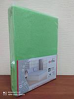 Махровая простынь с резинкой 220х240 см и две наволочки 50х70 см цвет салатовый Evibu