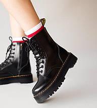 Женские зимние ботинки Dr. Martens Jadon | Platform Boots с мехом, фото 3