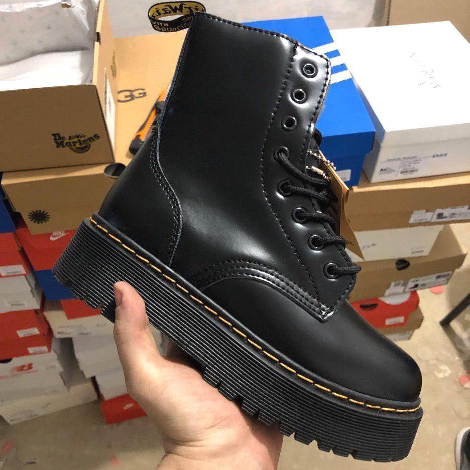Женские зимние ботинки Dr. Martens Jadon | Platform Boots с мехом